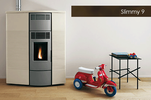 [SUNWEST]Ducted Ecofire Slimmy Metal 9kW/ペレットストーブ